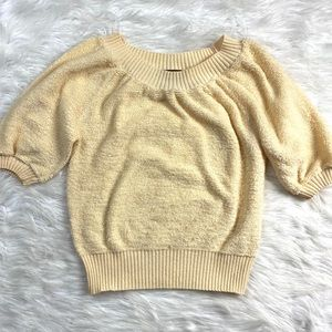 Vintage 70's Terry Sweater Ivory Retro Cream